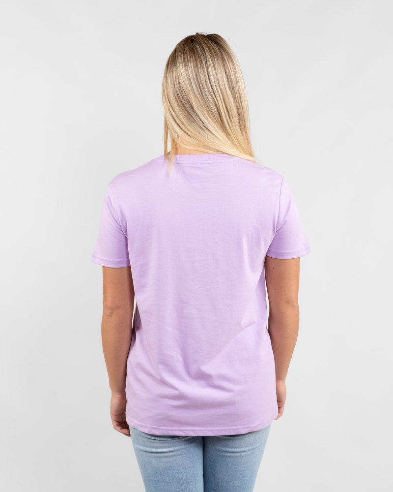 Rainbow lavender womens t-shirt