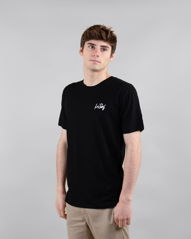 Motion black t-shirt side