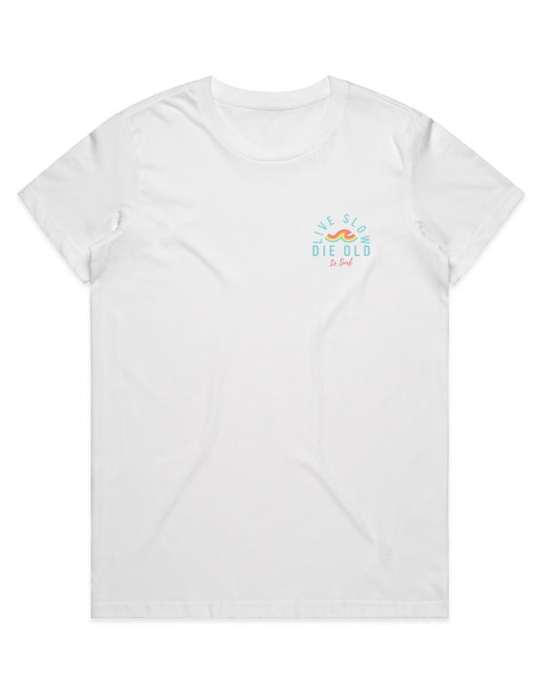 Live Slow White T-Shirt